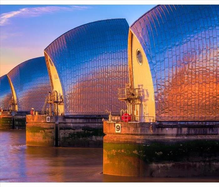 The Thames Barrier in England